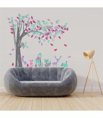 vinilo tingo tango bosque de otoño - media pared 155x130 cm