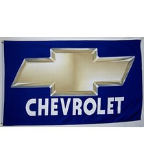 chevrolet gold & blue bowtie flag 3' x 5' indoor outdoor car & truck banner