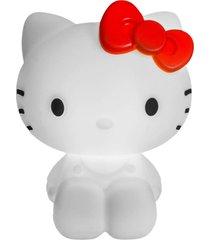 abajur luminária de mesa para bebê infantil bivolt led hello kitty - branco