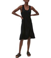 women's michael stars jasmine asymmetric hem swing dress, size small - black
