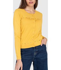 sweater ash liso amarillo - calce ajustado