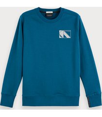 scotch & soda sustainable cotton blend long sleeve sweatshirt