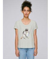 t-shirt waschbär