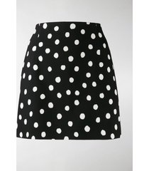 saint laurent polka dot skirt