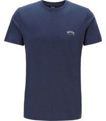 boss men's cotton jersey curved-logo t-shirt