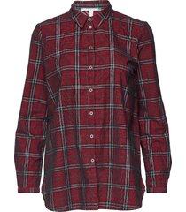 blouses woven långärmad skjorta röd esprit casual