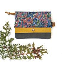 portfel boho mini - brązowy paisley