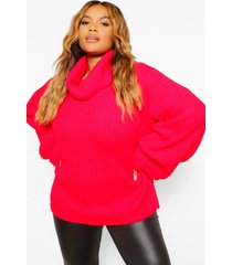 plus grote oversized coltrui, red