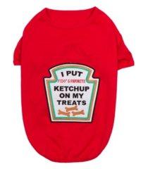parisian pet ketchup licker dog t-shirt