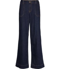 dhmay high flared custom jeans wijde pijpen blauw denim hunter