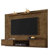 painel ametista tv até 65 pol. 2 portas madeira rústica móveis bechara
