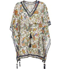 tory burch printed short poncho