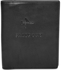 fossil men's leather embossed passport case