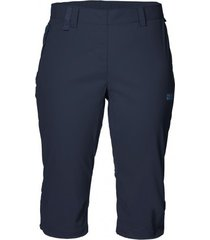 jack wolfskin korte broek women activate light 3/4 midnight blue