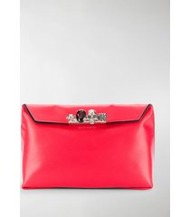 alexander mcqueen four ring handle clutch