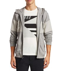 fleece panel hoodie
