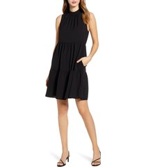 women's gibson x the motherchic lakeshore tiered dress, size x-small - black