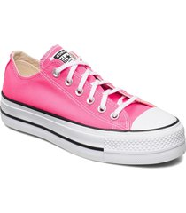 ctas lift ox hyper pink/white/black sneakers skor rosa converse