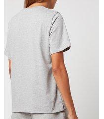 ganni women's thin software jersey t-shirt - paloma melange - xs
