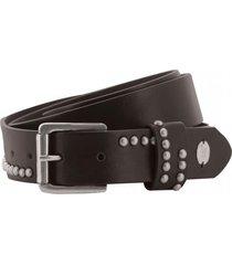 cinturon mujer camellia studded belt negro cat