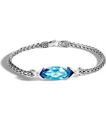 'asli classic chain' topaz silver bracelet