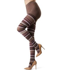 multi tonal stripe sweater women's tights