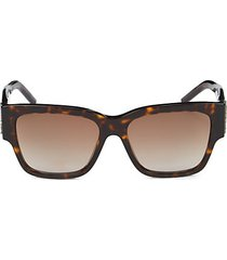 faux tortoiseshell 56mm square sunglasses
