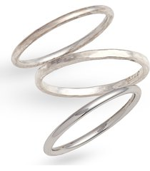 women's madewell delicate stacking ring set