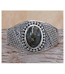 labradorite cuff bracelet, 'glorious' (indonesia)