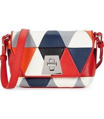 akris women's anouk patchwork leather crossbody bag
