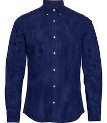 slim bc 2 col gingham bd overhemd casual blauw gant