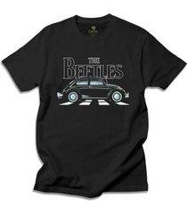 camiseta cool tees carros antigos the beetles masculina - masculino