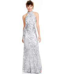 b darlin juniors' sequined halter gown