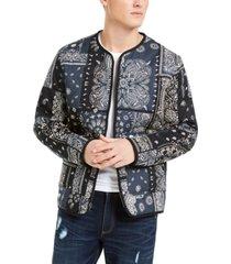 sun & stone men's bandana print jacket