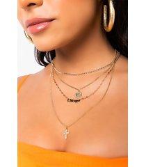 akira saint chicago layered necklace