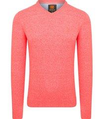 ombre cael sweater v-hals coral