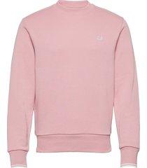 crew neck sweatshirt sweat-shirt tröja rosa fred perry