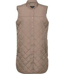 vmsim quilt 3-4 waistcoat ga boos vests padded vests brun vero moda