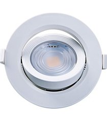 spot led de embutir redondo alltop 7w autovolt 6500k luz branca