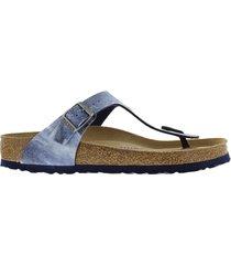 birkenstock gizeh used jeans blue soft footbett narrow blauw