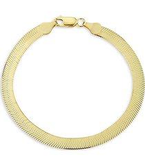 chloe & madison women's 14k goldplated sterling silver herringbone chain bracelet