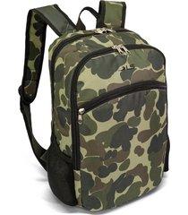mochila masculina 5 divisões ls mo4140 estampa camuflado