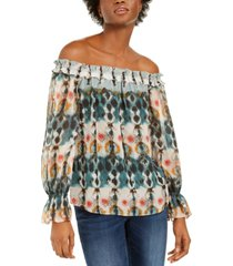 inc tie-dye off-the-shoulder top, created for macy's