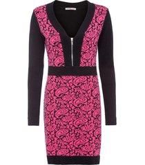 abito in maglia con zip (nero) - bodyflirt boutique