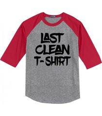 last clean t shirt mens raglan t