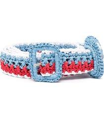 philosophy di lorenzo serafini striped braided belt - blue