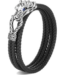 men's john hardy men's legends naga double wrap bracelet