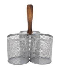 mind reader 3 section mesh silverware & flatware caddy organizer