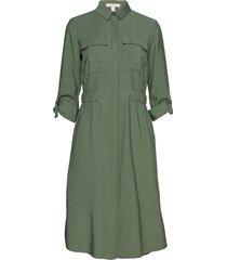 dresses woven knälång klänning grön esprit casual