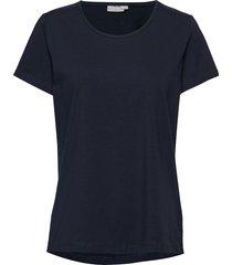 zaganic 2 t-shirt solid t-shirts & tops short-sleeved blå fransa